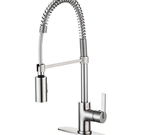 kitchen home spring oil rubbed style product bronze faucet with neck industrial design faucets waterloo